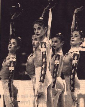 María -in close up- with the ESP group at the 1995 Worlds